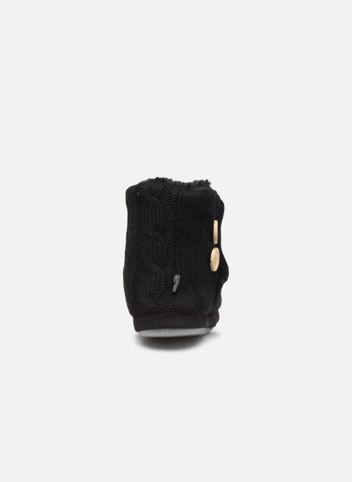 Pantuflas Sarenza Wear Chaussons boots boutons Femme Negro vista lateral derecha