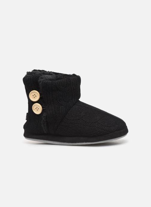 Chaussons Sarenza Wear Chaussons boots boutons Femme Noir vue derrière