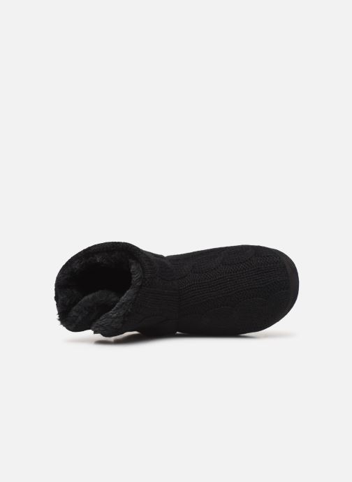 Pantuflas Sarenza Wear Chaussons boots boutons Femme Negro vista lateral izquierda