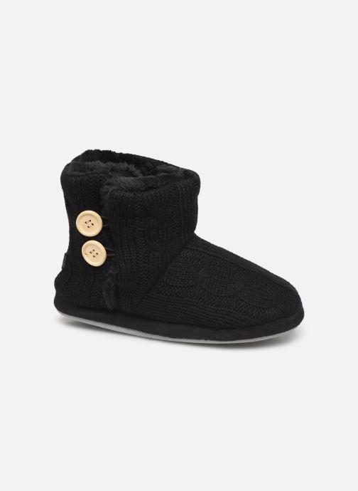 Chaussons Sarenza Wear Chaussons boots boutons Femme Noir vue détail/paire