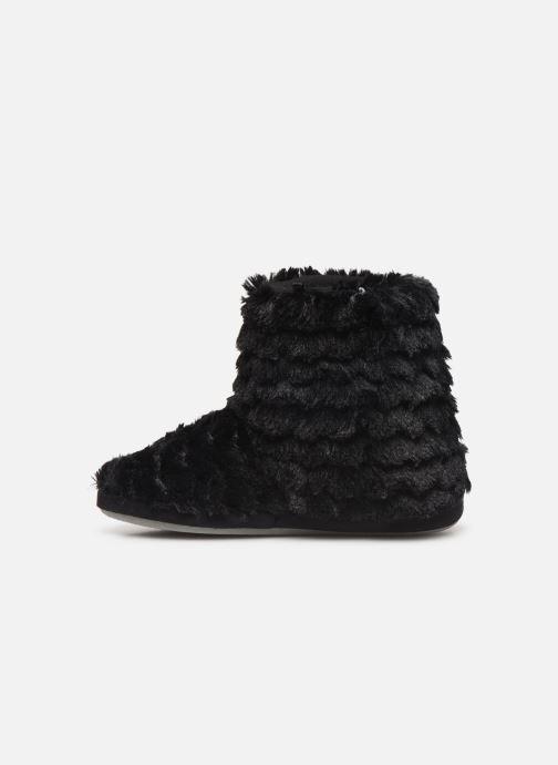 Slippers Sarenza Wear Chaussons boots paillettes Femme Black front view