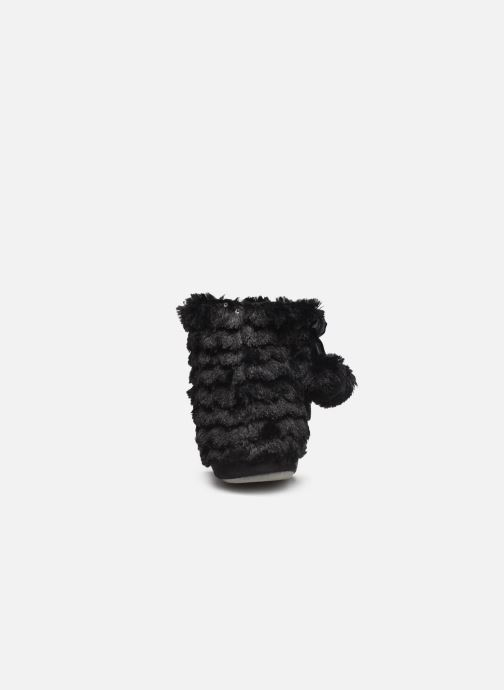 Slippers Sarenza Wear Chaussons boots paillettes Femme Black view from the right