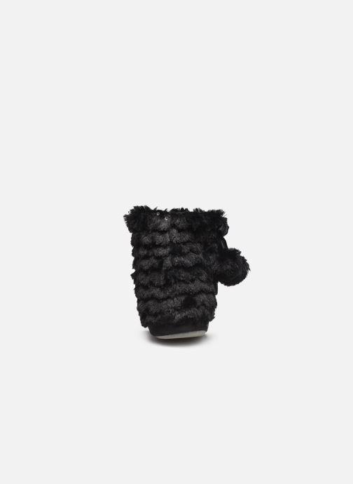 Chaussons Sarenza Wear Chaussons boots paillettes Femme Noir vue droite