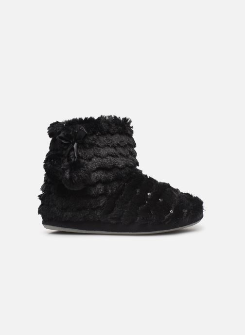 Slippers Sarenza Wear Chaussons boots paillettes Femme Black back view
