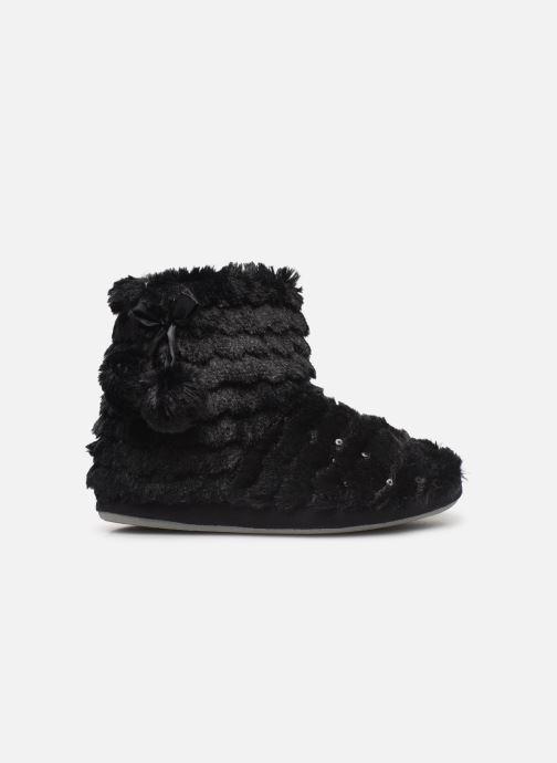 Chaussons Sarenza Wear Chaussons boots paillettes Femme Noir vue derrière
