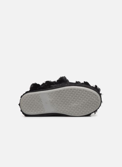 Pantuflas Sarenza Wear Chaussons boots paillettes Femme Negro vista de arriba