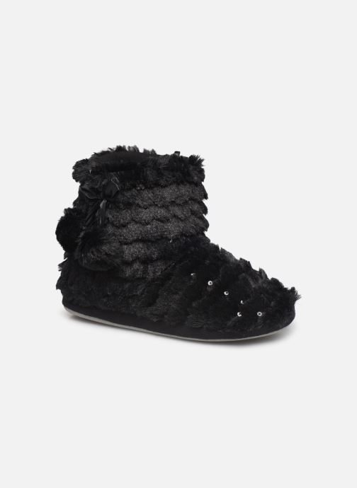 Slippers Sarenza Wear Chaussons boots paillettes Femme Black detailed view/ Pair view