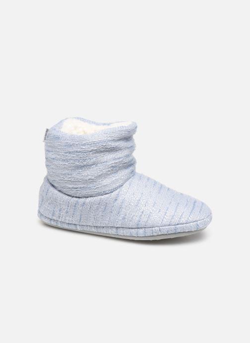 Chaussons boots bleu Femme