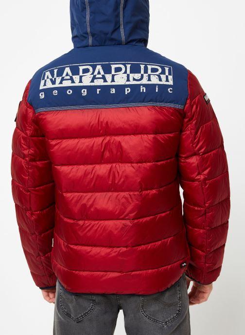 Vêtements Napapijri Aric Rouge vue portées chaussures