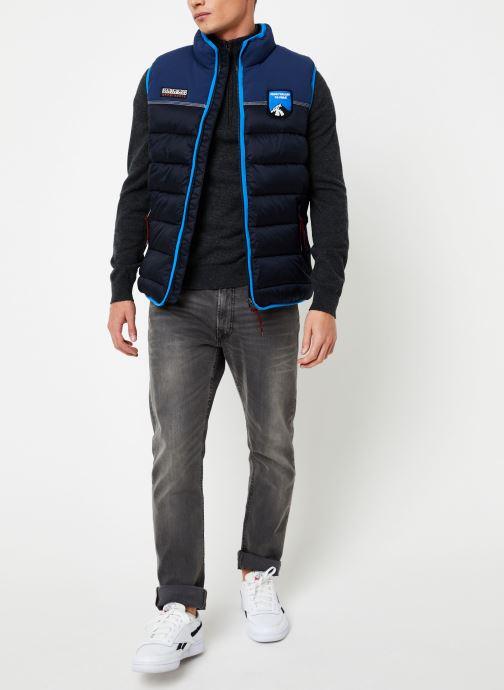 Vêtements Napapijri Aric Vest Bleu vue bas / vue portée sac