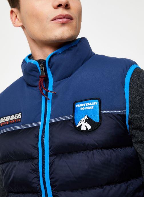 Vêtements Napapijri Aric Vest Bleu vue face