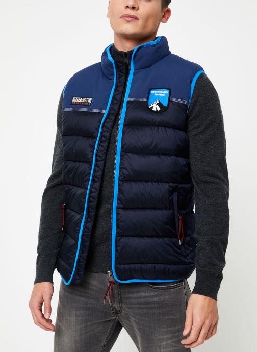 Vêtements Napapijri Aric Vest Bleu vue droite