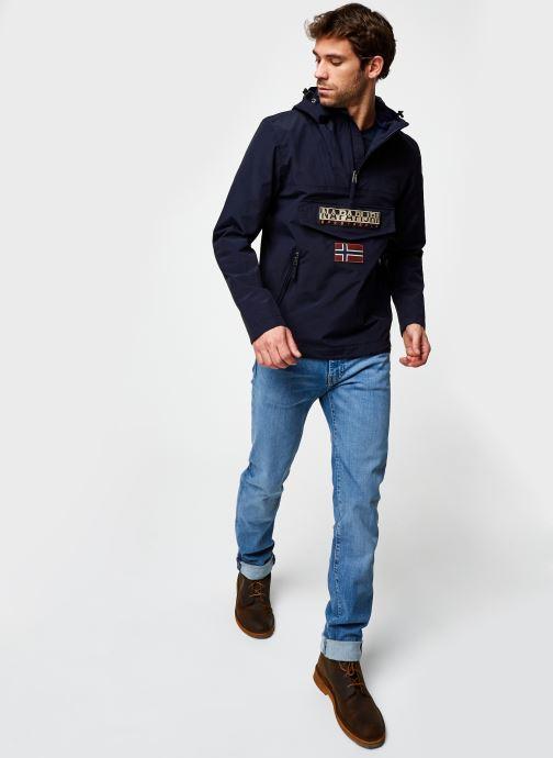 Vêtements Napapijri Rainforest Pocket M Bleu vue bas / vue portée sac