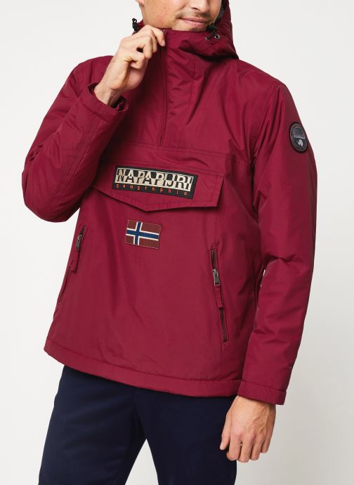 Vêtements Napapijri Rainforest Pocket M Rouge vue droite