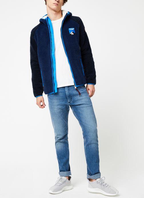 Vêtements Napapijri Yupik FZH Bleu vue bas / vue portée sac