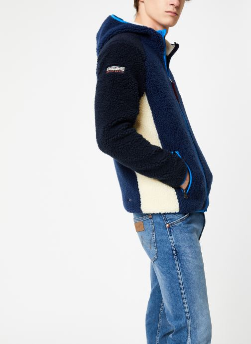 Vêtements Napapijri Yupik FZH Bleu vue droite