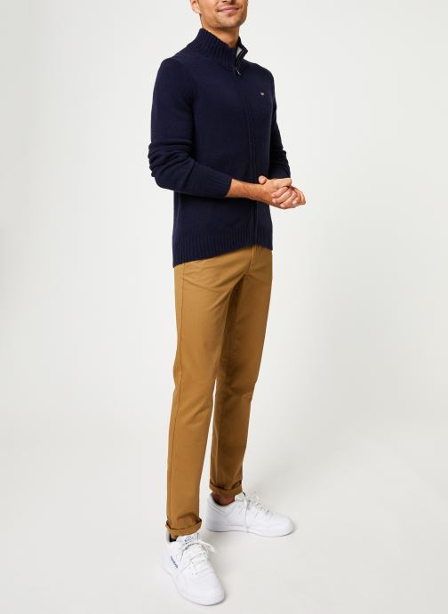 Vêtements Napapijri Dain FZ Bleu vue bas / vue portée sac