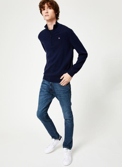 Vêtements Napapijri Damavand Half Zip Bleu vue bas / vue portée sac