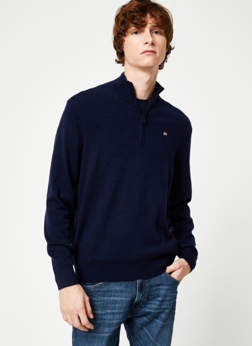 Vêtements Napapijri Damavand Half Zip Bleu vue droite