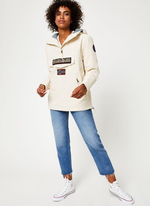 Vêtements Napapijri Rainforest Pocket W Blanc vue bas / vue portée sac