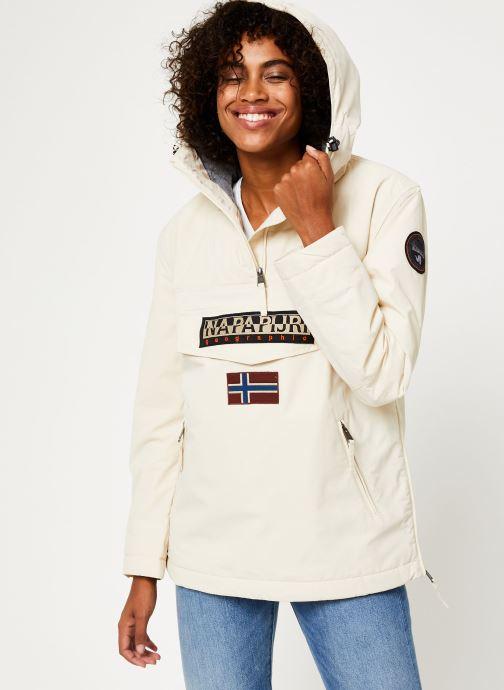Vêtements Napapijri Rainforest Pocket W Blanc vue droite