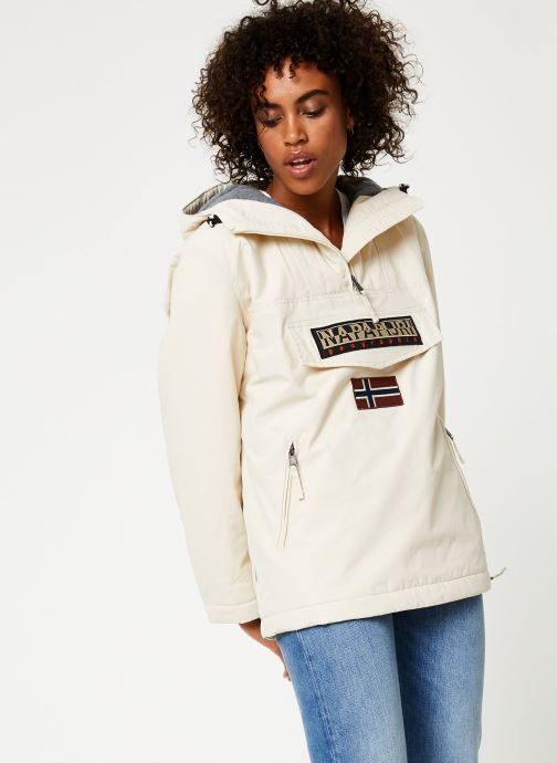 Vêtements Napapijri Rainforest Pocket W Blanc vue détail/paire