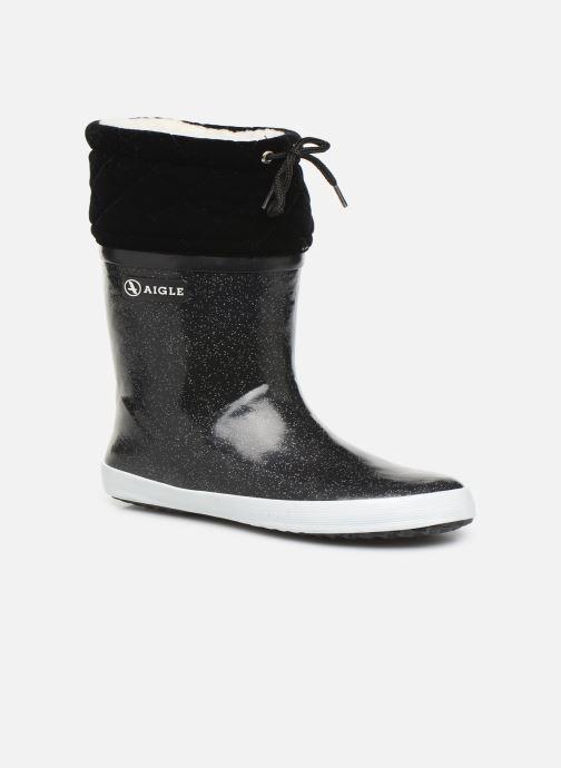 Støvler & gummistøvler Aigle Giboulée Print Sort detaljeret billede af skoene