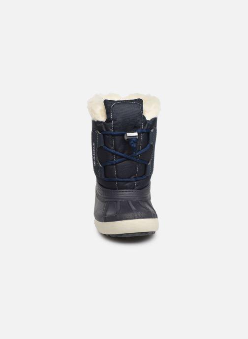 Bottes Aigle Nervei Baby Bleu vue portées chaussures