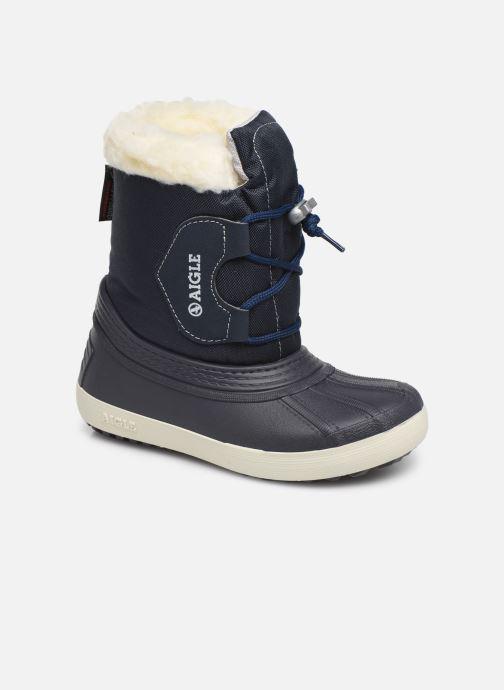 Støvler & gummistøvler Aigle Nervei Baby Blå detaljeret billede af skoene