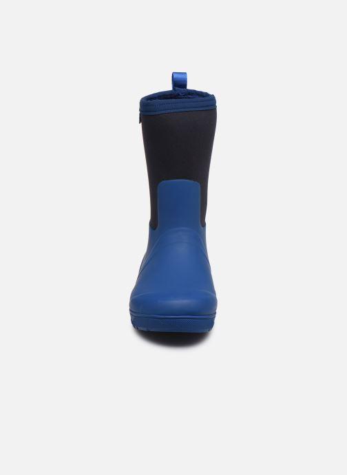 Bottes Aigle Woody Cross Bleu vue portées chaussures