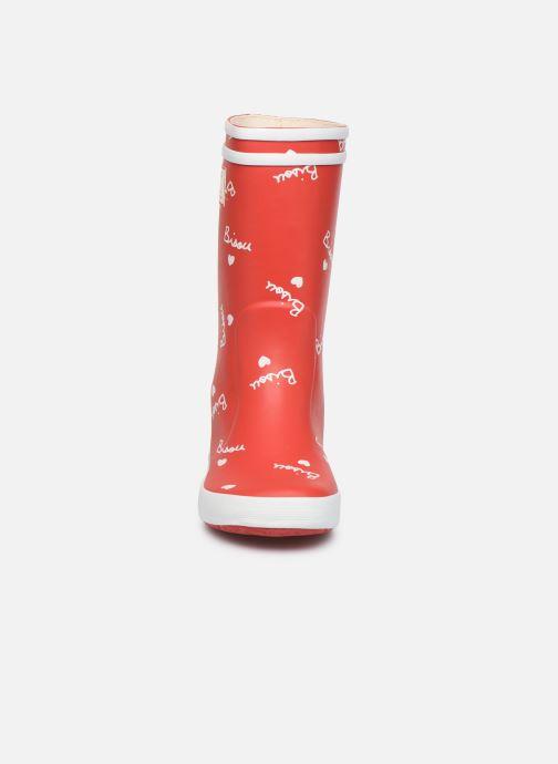 Bottes Aigle Mathi Lolly Rouge vue portées chaussures