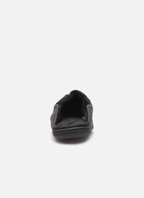 Slippers Dim D ABBOU Black view from the right