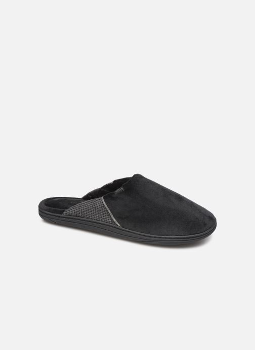 Slippers Dim D ABBOU Black detailed view/ Pair view
