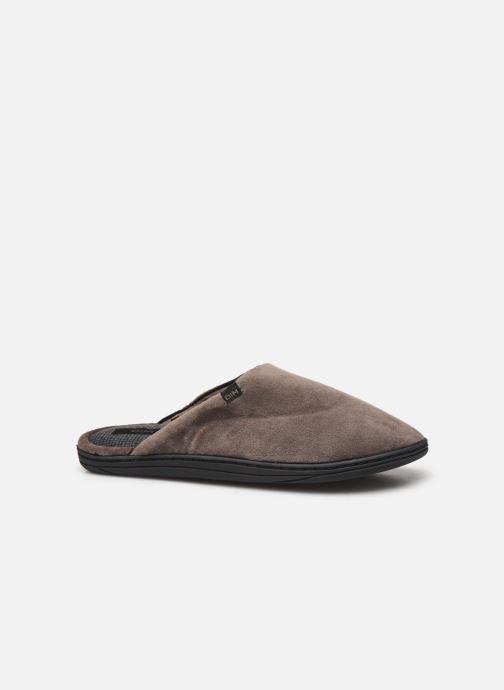 Pantoffels Dim D ABELARD Bruin achterkant