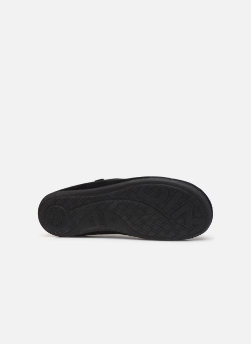 Slippers Dim D AGNI Black view from above