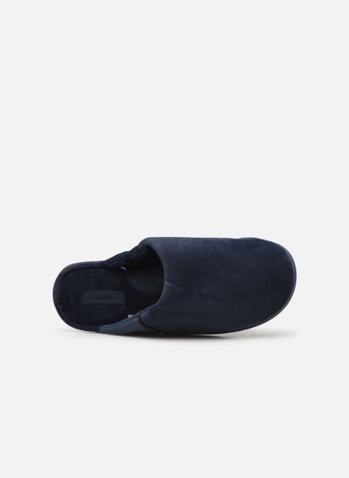 Slippers Dim D AIMON Blue view from the left