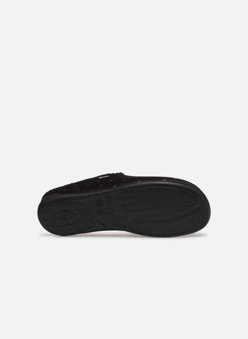Slippers Dim D NURVEL Black view from above