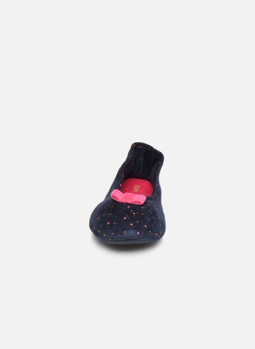 Chaussons Dim D BUSIPR Bleu vue portées chaussures