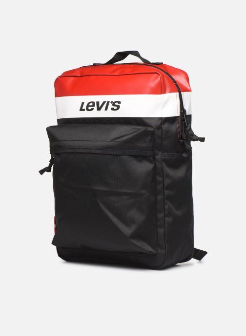 Sacs à dos Levi's The Levi's® L Pack Standard Issue Colorblock Rouge vue portées chaussures