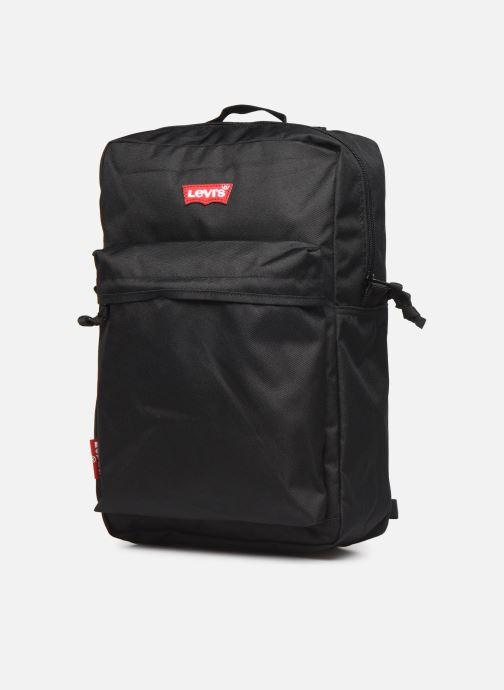 Zaini Levi's The Levi's® L Pack Standard Issue Nero modello indossato