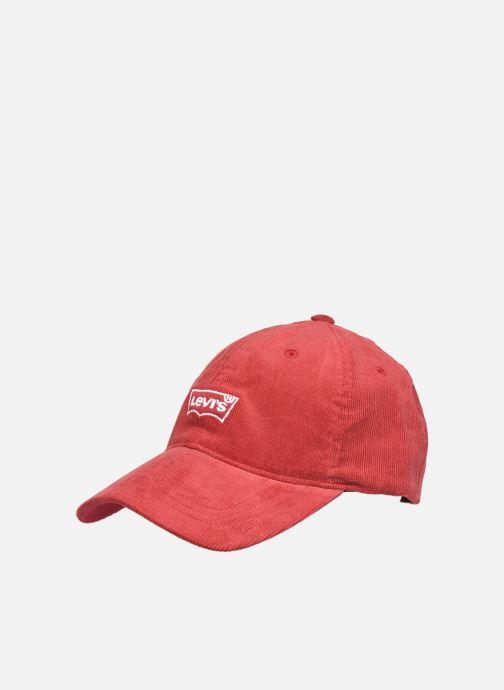 Gorra Levi's CORD BATWING CAP FLEXFIT Rojo vista de detalle / par