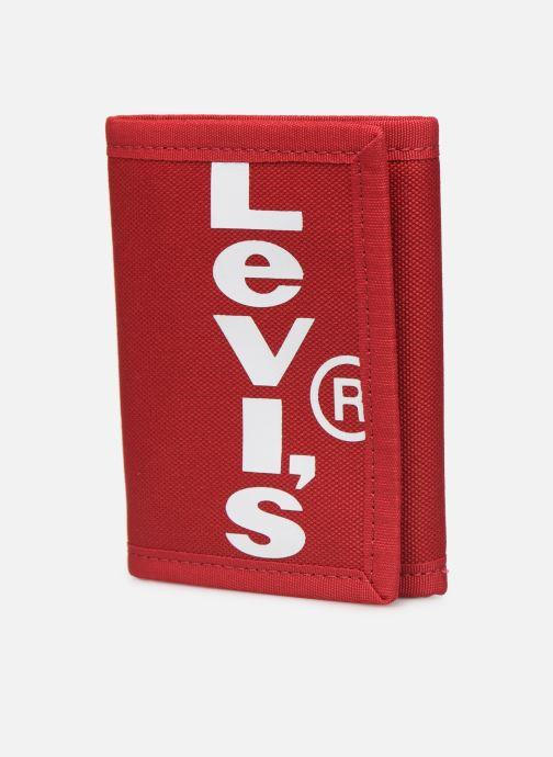 Kleine lederwaren Levi's Oversized Red Tab Trifold Rood model