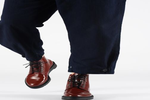 Bottines et boots Kickers ADHEMAR Rouge vue bas / vue portée sac