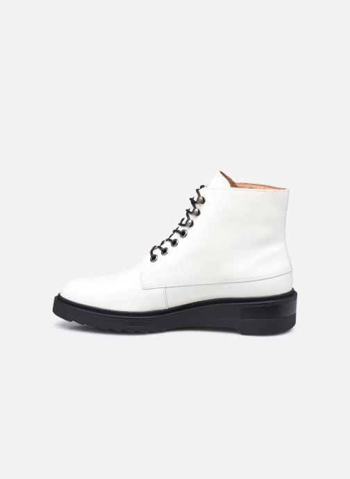 Bottines et boots Kickers ADHEMAR Blanc vue face