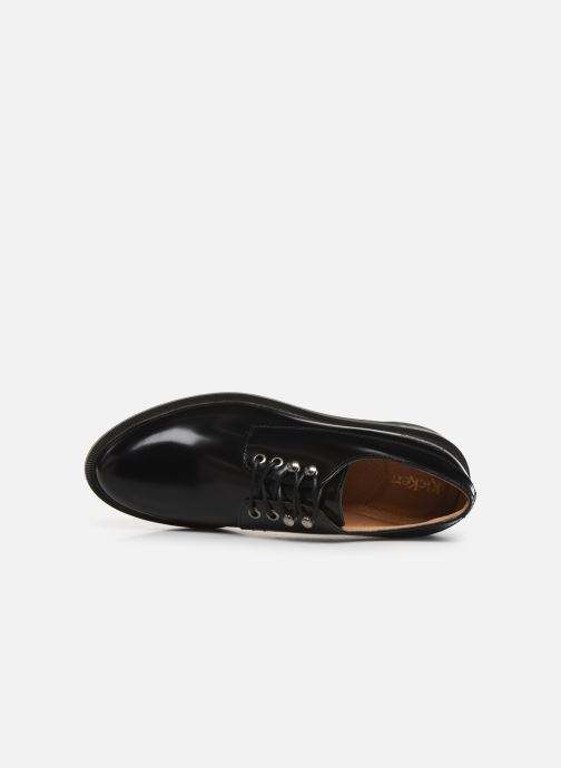 Zapatos con cordones Kickers ALDARIC Negro vista lateral izquierda