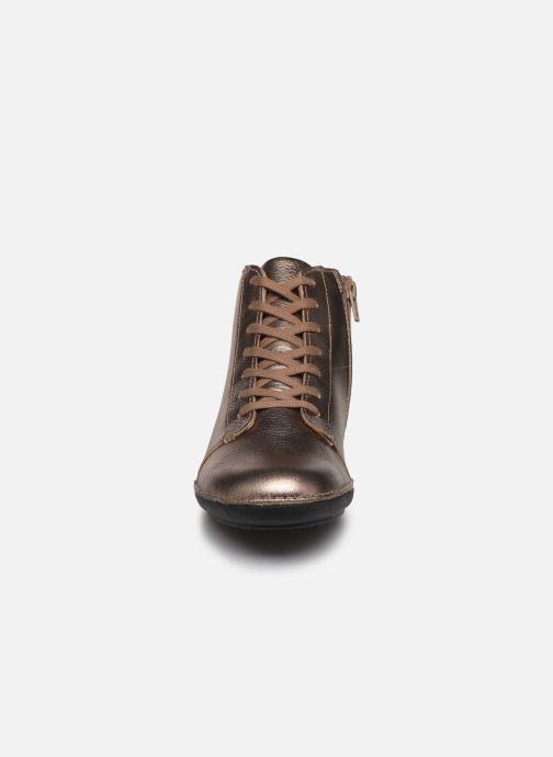 Bottines et boots Kickers FOWTOW Or et bronze vue portées chaussures