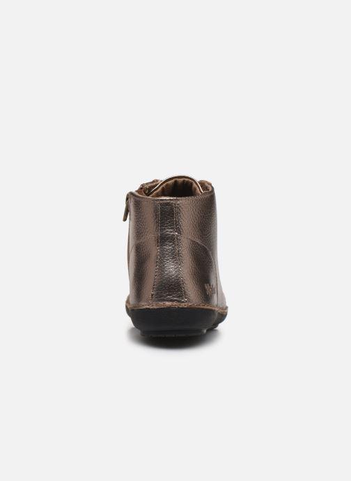 Bottines et boots Kickers FOWTOW Or et bronze vue droite