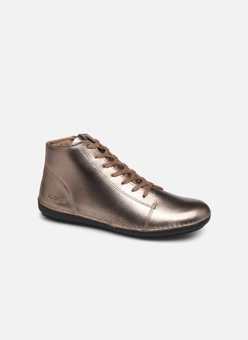 Bottines et boots Kickers FOWTOW Or et bronze vue détail/paire