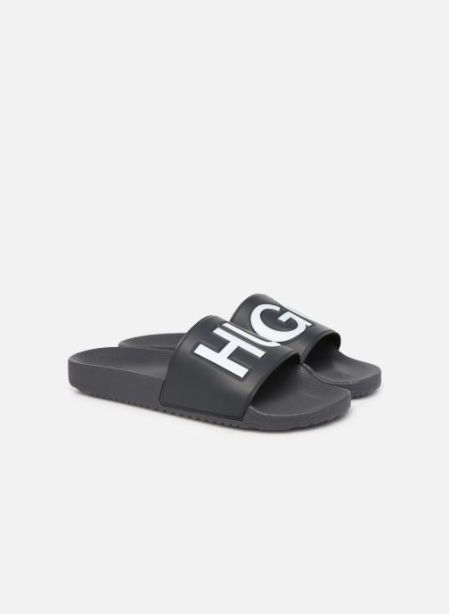 Sandales et nu-pieds Hugo Timeout_Slip_rblg Gris vue 3/4