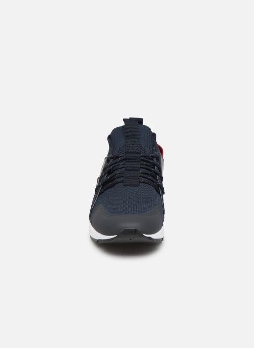 Baskets Hugo Hybrid_Runn_knbc Bleu vue portées chaussures